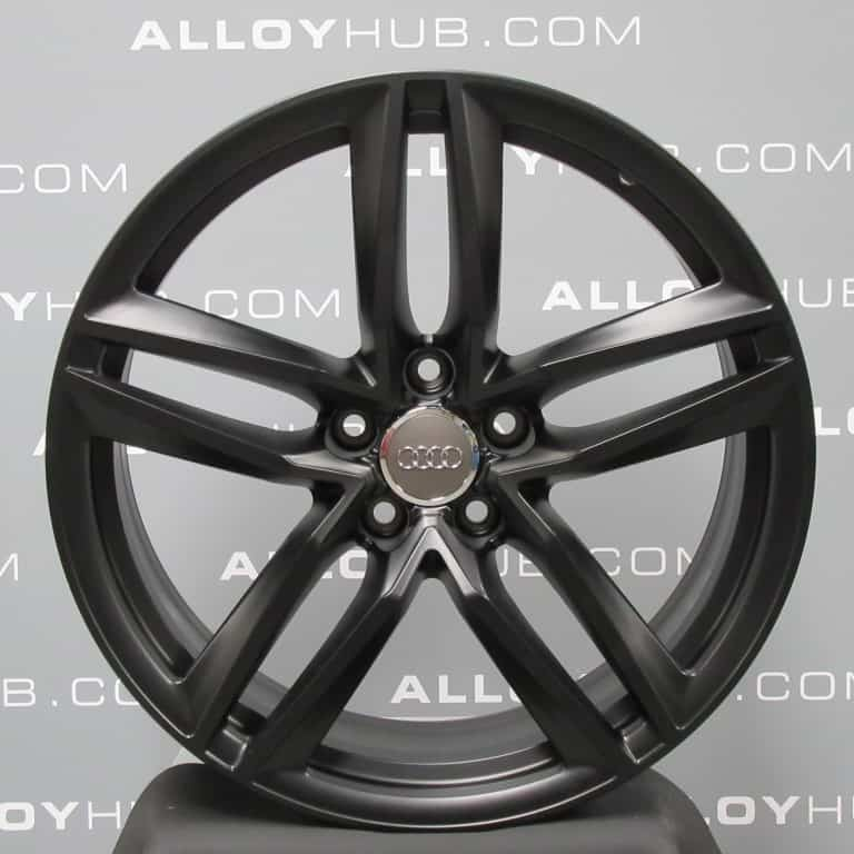 "Genuine Audi R8 V8/V10 5 Twin Spoke 19"" Inch Alloy Wheels with Satin Black Finish 420 601 025, BE 420 601 025 BD"