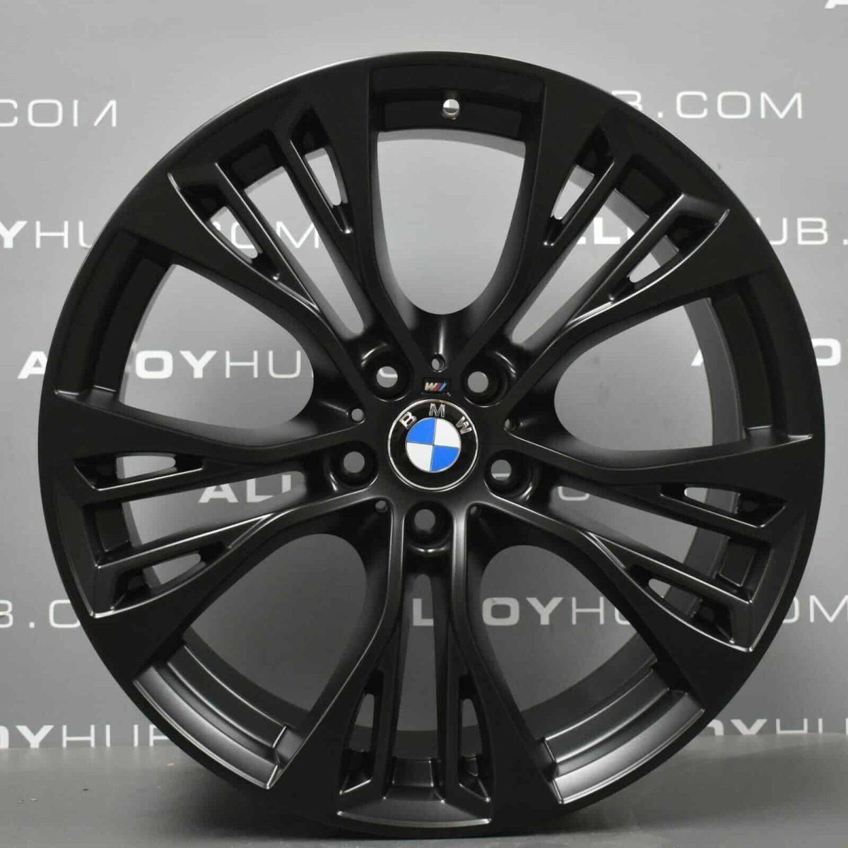 Genuine BMW X5 X6 F15 F16 Style 599M Sport Performance 21″ inch Alloy Wheels with Satin Black Finish 36116859423 36116859424