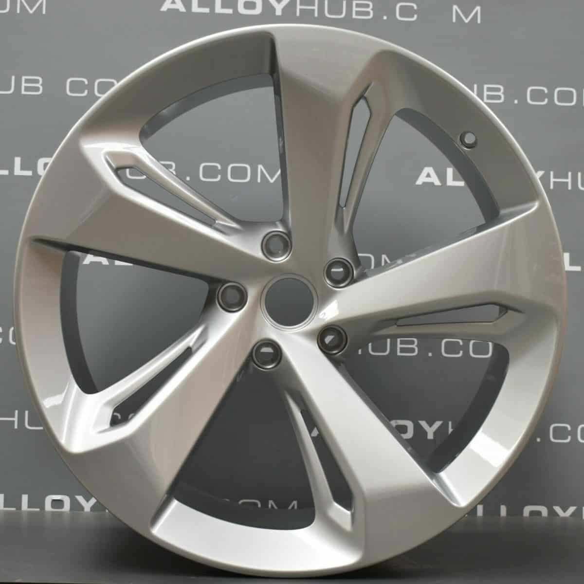 """Genuine Bentley Bentayga 5 Spoke 22"""" Inch Alloy Wheels with Silver Finish 3A601025D, 36A601025G"""