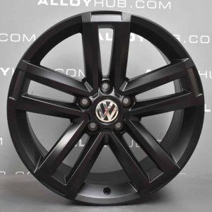 "Genuine Volkswagen Amarok Cantera 5 Twin Spoke 19"" Inch Alloy Wheel with Satin Black Finish 2H0 601 025 AD"