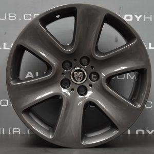 """Genuine Jaguar XF X250 Cygnus 6 Spoke 18"""" Inch Alloy Wheels with Anthracite Grey Finish 8X23-1007-BA"""