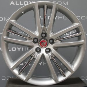 "Genuine Jaguar XF X250 Selina 5 Twin Spoke 20"" inch Alloy Wheels with Sparkle Silver Finish C2P14975"
