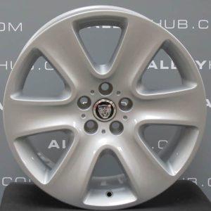 "Genuine Jaguar XF X250 Cygnus 6 Spoke 18"" Inch Alloy Wheels with Silver Finish 8X23-1007-BA"