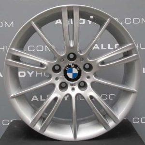 "Genuine BMW 3 Series MV3 193M Sport 18"" Inch Alloy Wheels with Silver Finish 36118036933 36118036934"