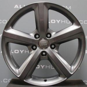 "Genuine Audi Q7 4L 5 Spoke S-Line Speedline 20"" Inch Alloy Wheels with Anthracite Grey Finish 4L0 601 025 H"