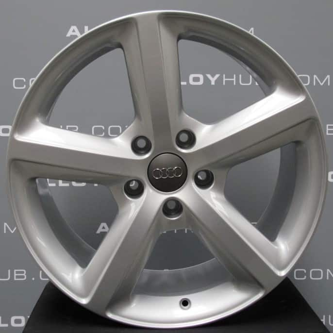 "Genuine Audi Q7 4L 5 Spoke S-Line Speedline 20"" Inch Alloy Wheels with Silver Finish 4L0 601 025 H"