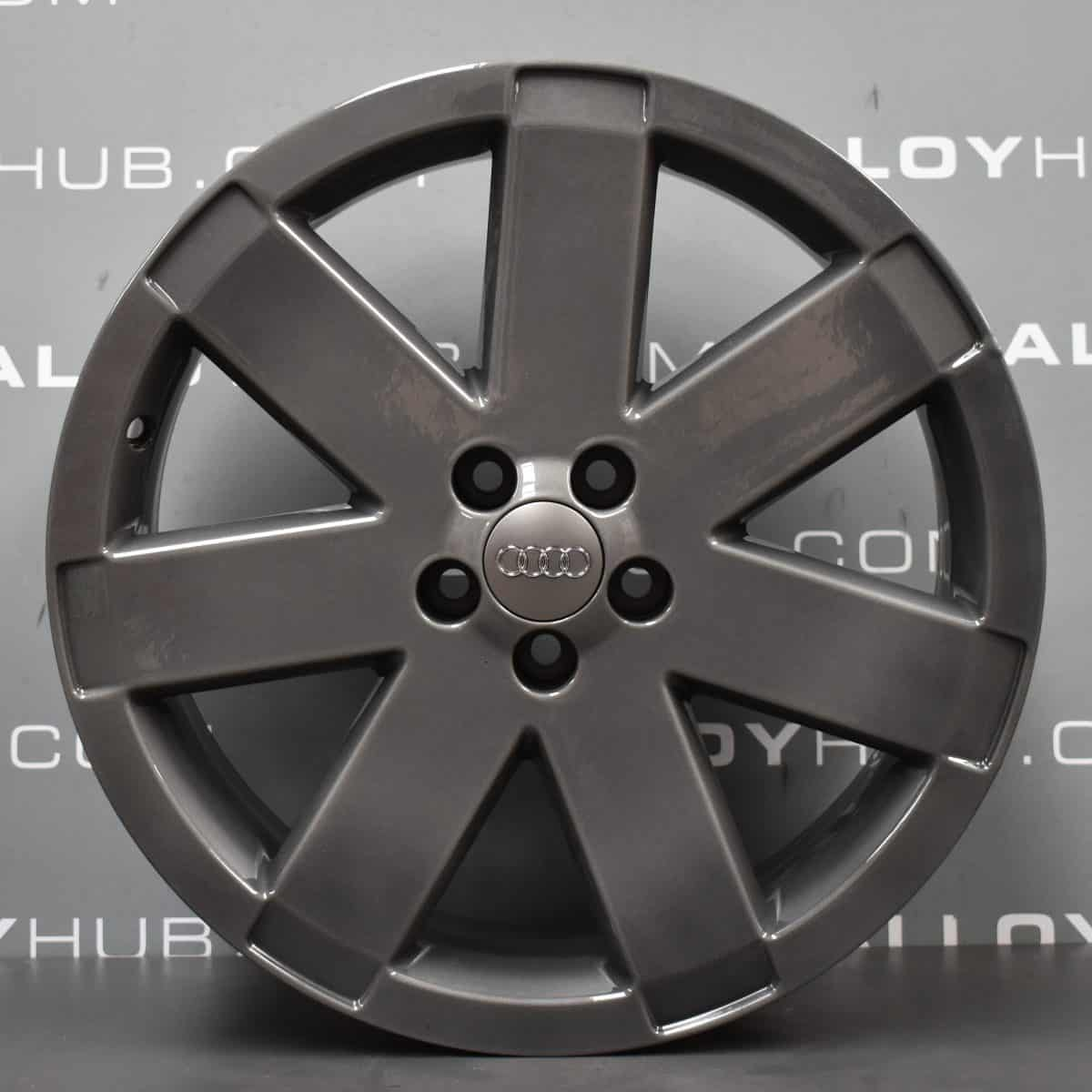 "Genuine Audi TT 8N MK1 3.2 V6 Ronal 7 Spoke 18"" Inch Alloy Wheels with Anthracite Grey Finish 8N0 601 025 T"