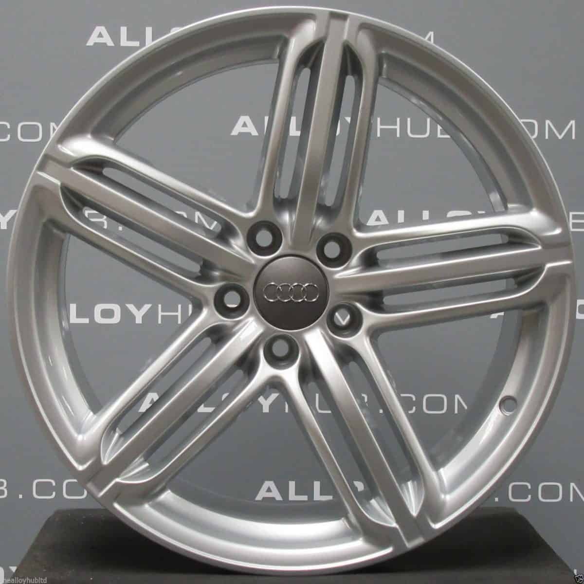 "Genuine Audi TT TTS MK2 8J 5 Segment Spoke 19"" Inch Alloy Wheels with Silver Finish 8J0 601 025 CM"