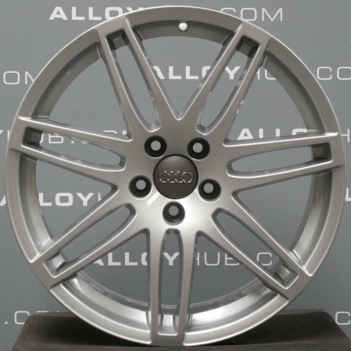 """Genuine Audi TT TTS MK2 8J 19"""" Inch 7 Double Spoke S-Line Alloy Wheels with Silver Finish 8J0 601 025 N"""