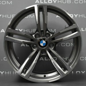 "Genuine BMW 437M Sport M2 M3 M4 F87 F80 F82 19"" Inch Alloy Wheels with Ferric Grey & Diamond Turned Finish 36112284755 36112284756"