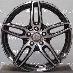 "Genuine Mercedes-Benz A/B Class W176 W246 18"" Inch AMG 5 Twin Spoke Alloy Wheels with Gloss Black & Diamond Turned Finish A1764010700"