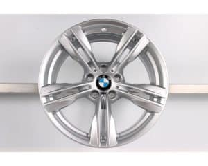 "Genuine BMW X5 X6 F15 F16 467M Sport 5 Twin Spoke 19"" inch Alloy Wheels with Silver Finish 36117846786 36117846787"