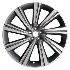 Genuine Jaguar F-Pace 9 Spoke 22″ Inch Alloy Wheels with Grey & Diamond Turned Finish T4A3798