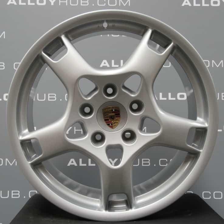 "Genuine Porsche 911 997 Carrera S C2/2S 19"" Inch Lobster Claw Alloy Wheels with Silver Finish 99736215600 99736216201"