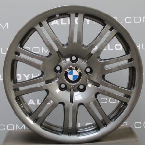"""Genuine BMW M3 E46 Style 67M Sport 10 Double Spoke 19"""" inch Alloy Wheels with Anthracite Grey Finish 36112229650 36112229660"""