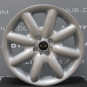 """Genuine Mini Cooper S R50 R53 R56 R85 S Spoke 17"""" inch Alloy Wheels with Silver Finish 36111512352"""