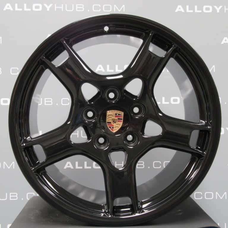 Genuine Porsche 911 997 Carrera 4/4S Lobster Claw Alloy Wheels wit Gloss Black Finish 99736215601 99736236200