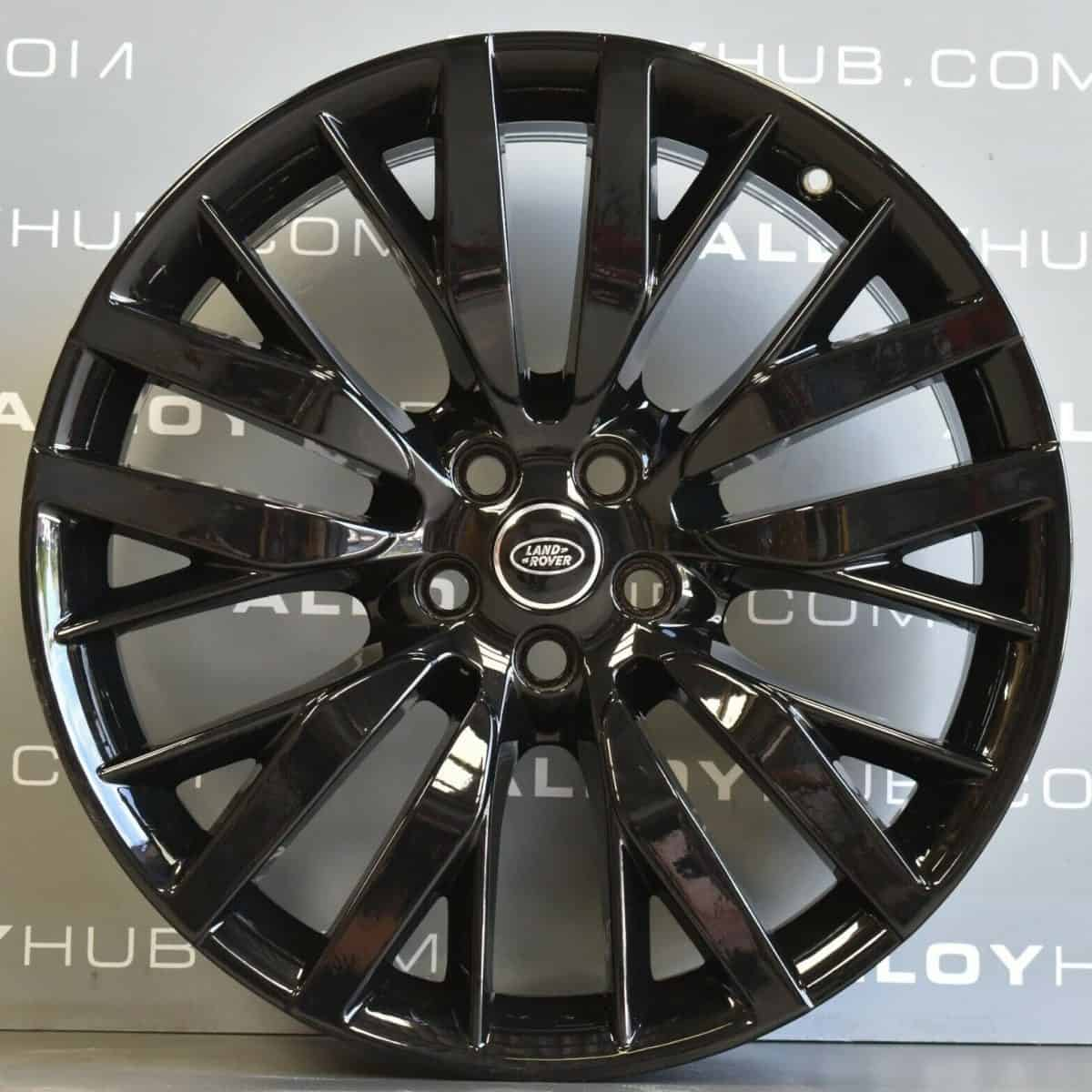 """Genuine Land Rover Range Rover Sport SVR L494 Style 108 22"""" inch Alloy Wheels with Gloss Black Finish FK6M-1007-BA"""