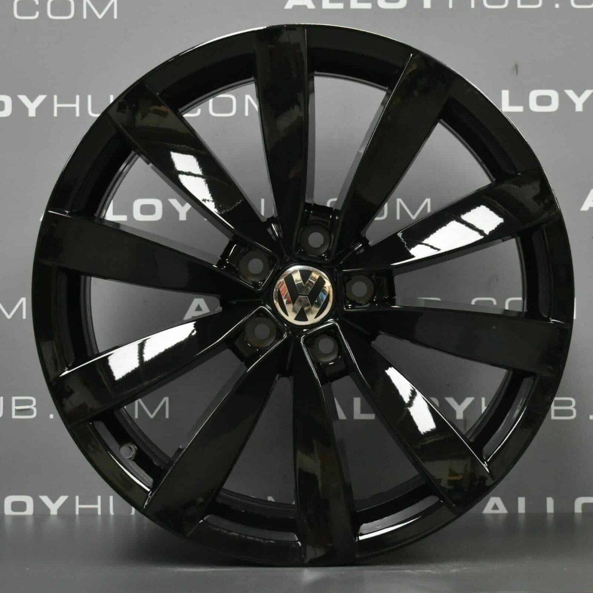 Genuine Volkswagen Scirocco Laguno 19″ inch 10 Spoke Alloy Wheels with Gloss Black Finish 1K8 601 025 S