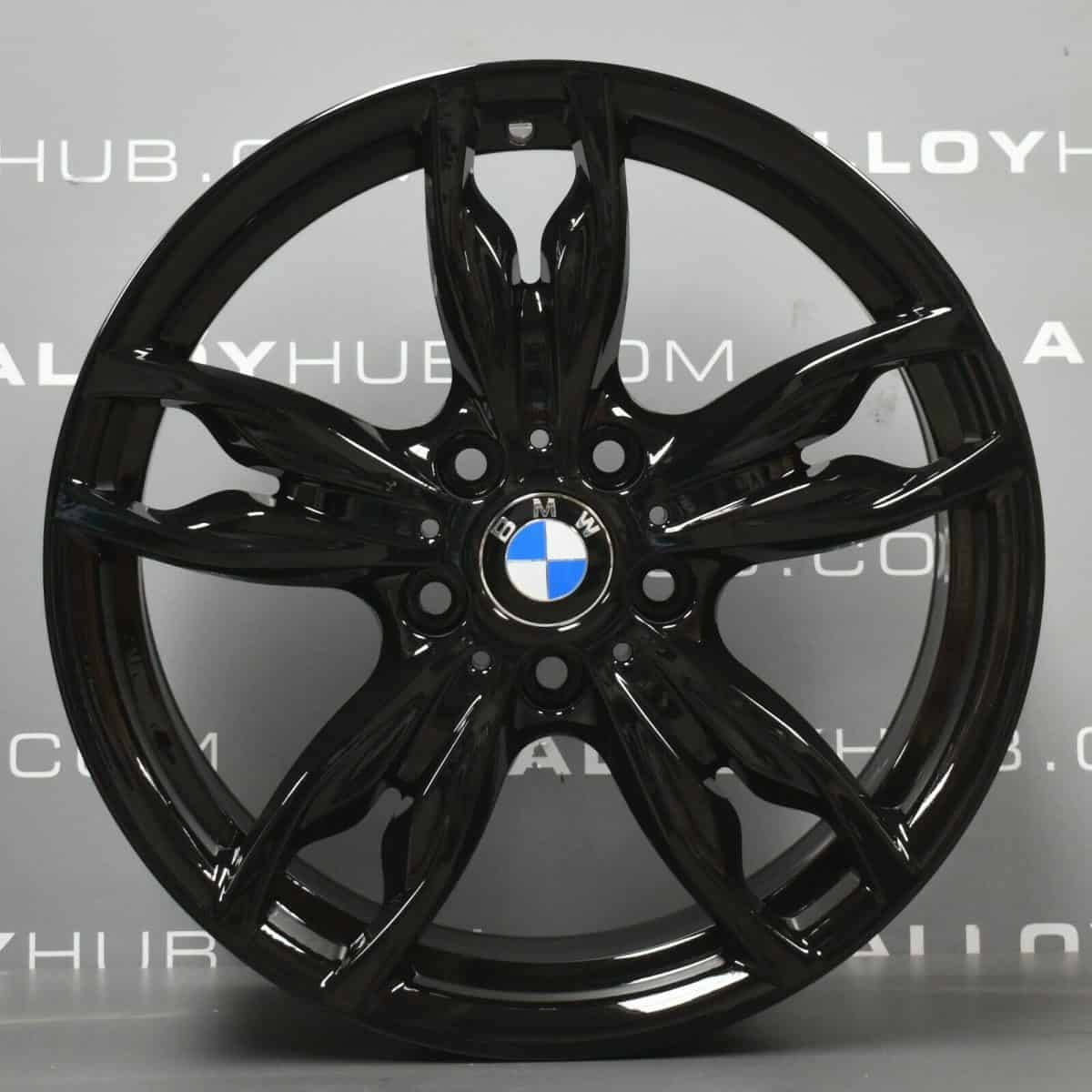 """Genuine BMW 1/2 Series 436M Sport 18"""" Inch Alloy Wheels with Gloss Black Finish 36117845870 36117845871"""