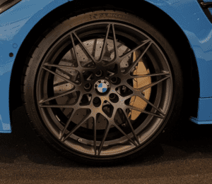 """Genuine BMW 666M Sport Competition M3 M4 F90 F82 20"""" Inch Alloy Wheels with Satin Black Finish 36112287500 36112287501"""