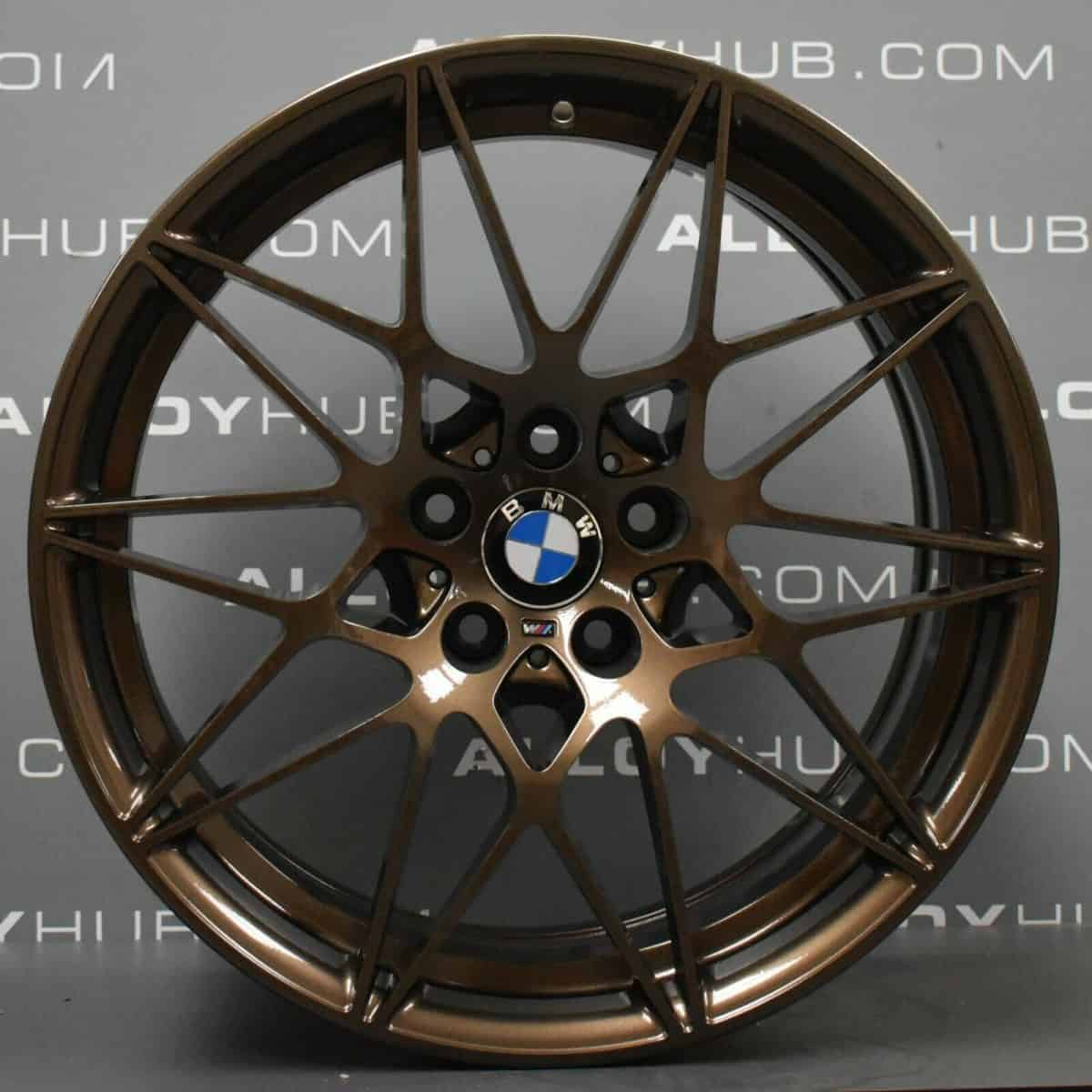 """Genuine BMW 666M Sport Competition M3 M4 F80 F82 20"""" Inch Alloy Wheels with Bronze Finish 36112287500 36112287501"""
