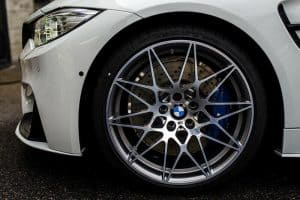 """Genuine BMW 666M Sport Competition M3 M4 F80 F82 20"""" Inch Alloy Wheels with Grey & Diamond Turned Finish 36112287500 36112287501"""