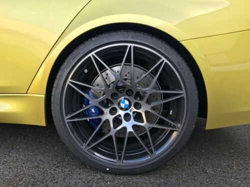 """Genuine BMW 666M Sport Competition M3 M4 F80 F82 20"""" Inch Alloy Wheels with Smoked Black Finish 36112287500 36112287501"""