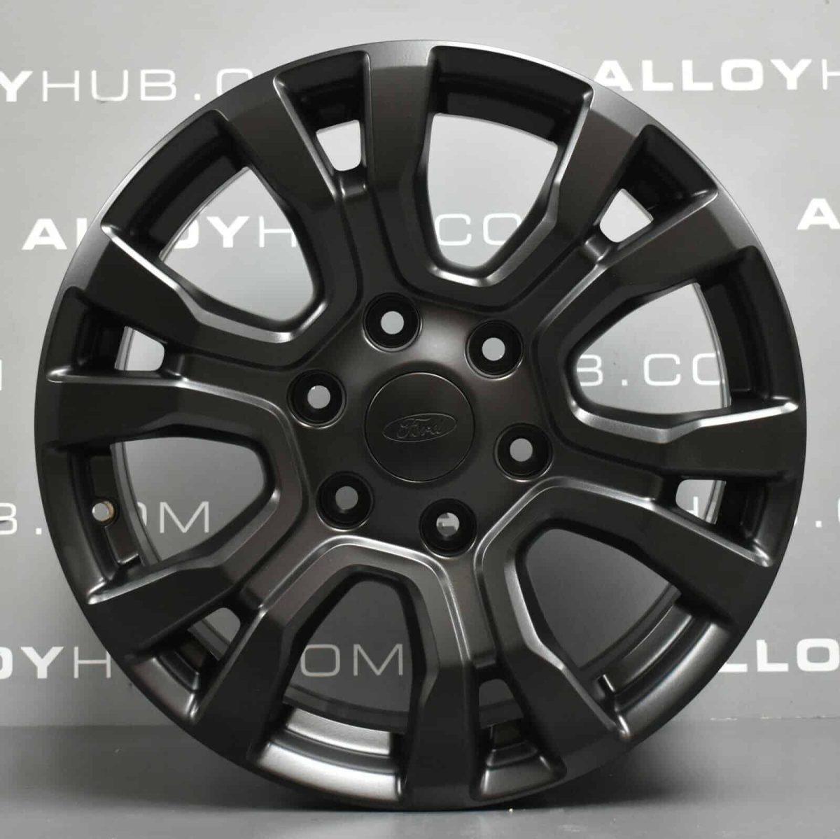 "Genuine Ford Ranger Wildtrak 18"" inch Alloy Wheels with Satin Black Finish AB39-1007-EA"