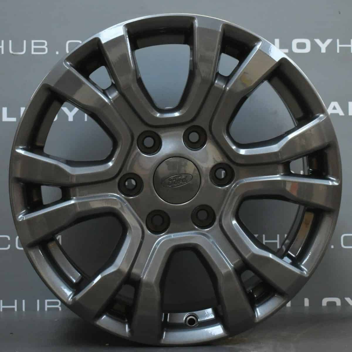"""Genuine Ford Ranger Wildtrak 18"""" inch Alloy Wheels with Anthracite Grey Finish AB39-1007-EA"""