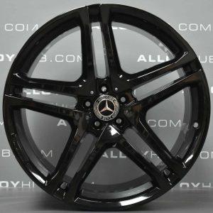 "Genuine Mercedes-Benz ML GLE W166 C292 AMG 22"" inch Alloy Wheels with Gloss Black Finish A29240130007 A29240121007"