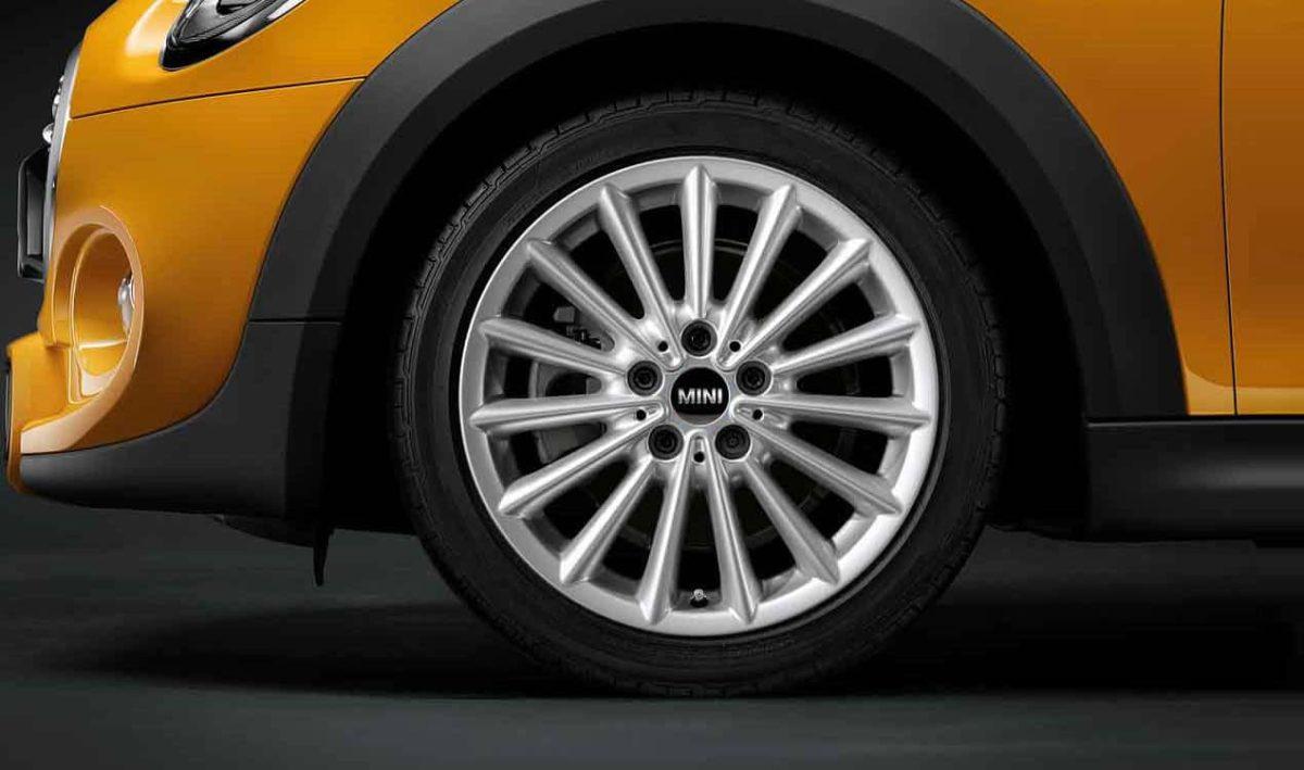 """Genuine Mini Cooper F55 F56 F57 505 Multi Spoke 17"""" inch Alloy Wheels with Silver Finish 36116855114"""