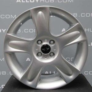 "Genuine Mini Cooper S R50 R53 R56 R111 Star Bullet Spoke 17"" inch Alloy Wheels with Silver Finish 36116763299"