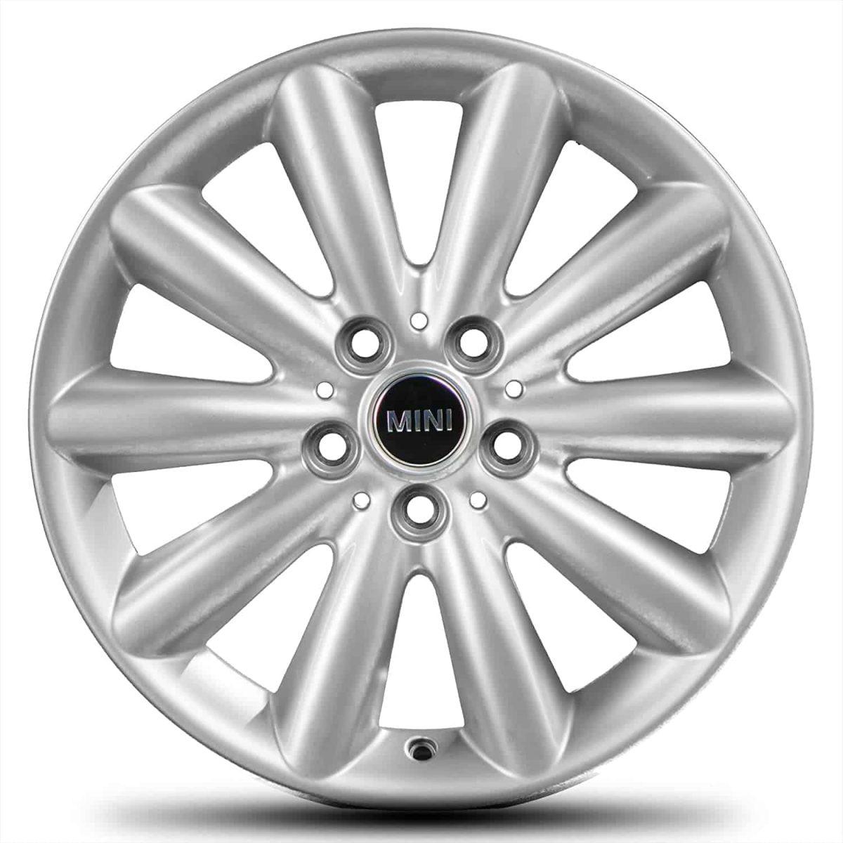 """Genuine Mini Cooper F55 F56 F57 499 Cosmos Spoke 17"""" inch Alloy Wheels with Silver Finish 36116855108"""