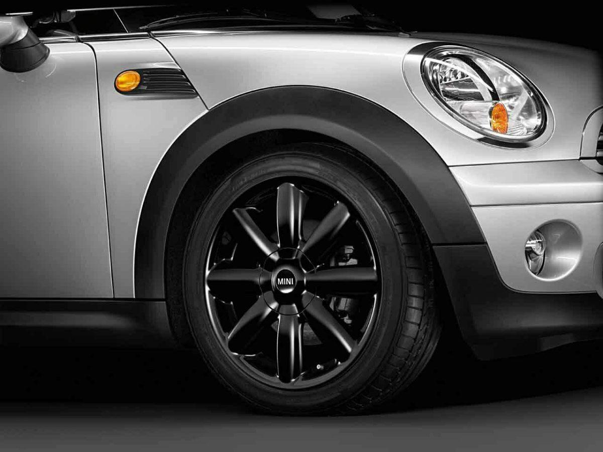 "Genuine Mini Cooper S R50 R53 R56 R104 Crown Spoke 17"" inch Alloy Wheels with Matt Black Finish 36116787237"