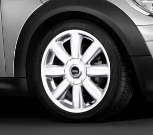 "Genuine Mini Cooper S R50 R53 R56 R104 Crown Spoke 17"" inch Alloy Wheels with White Finish 36116769412"