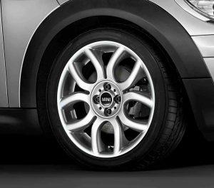 "Genuine Mini Cooper S R50 R53 R56 R97 Flame Spoke 17"" inch Alloy Wheels with Silver Finish 36116775685"