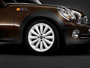 """Genuine Mini Cooper S R50 R53 R56 R116 Infinite Stream Spoke 17"""" inch Alloy Wheels with White Finish 36116789796"""