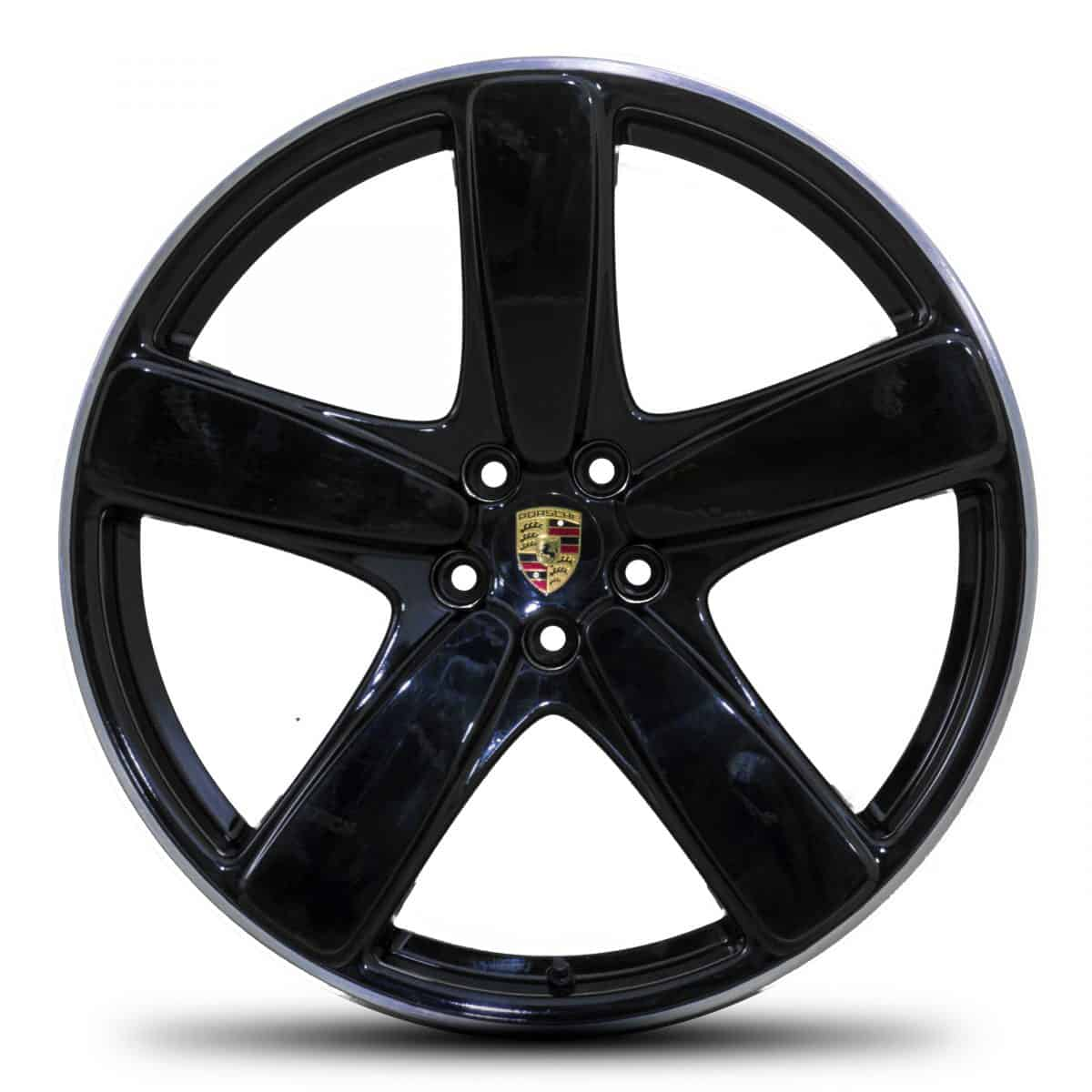 "Genuine Porsche Macan Turbo 95B Sport Classic 2 Spoke 21"" inch Alloy Wheels with Satin Black & Diamond Turned Finish 95B601025AC041 95B601025AE041"
