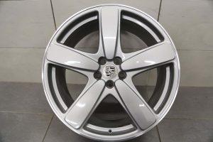 """Genuine Porsche Macan Turbo 95B Sport Classic 2 Spoke 21"""" inch Alloy Wheels with Silver Finish 95B601025ACM7Z 95B601025AEM7Z"""