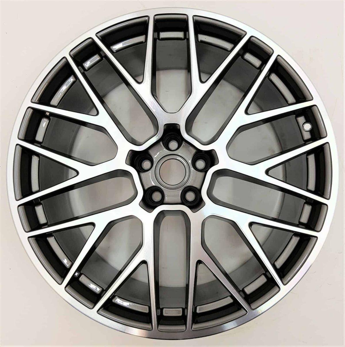 "Genuine Porsche Macan 95B RS Spyder Spoke 20"" inch Alloy Wheels with Grey & Diamond Turned Finish 95B601025BFOC6 95B601025BGOC6"