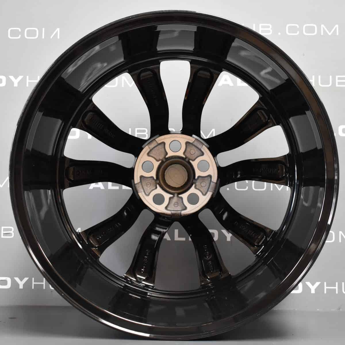 "Genuine Land Rover Range Rover Style 5086 5 Split-Spoke 22"" inch Alloy Wheels with Gloss Black Finish LR099144"