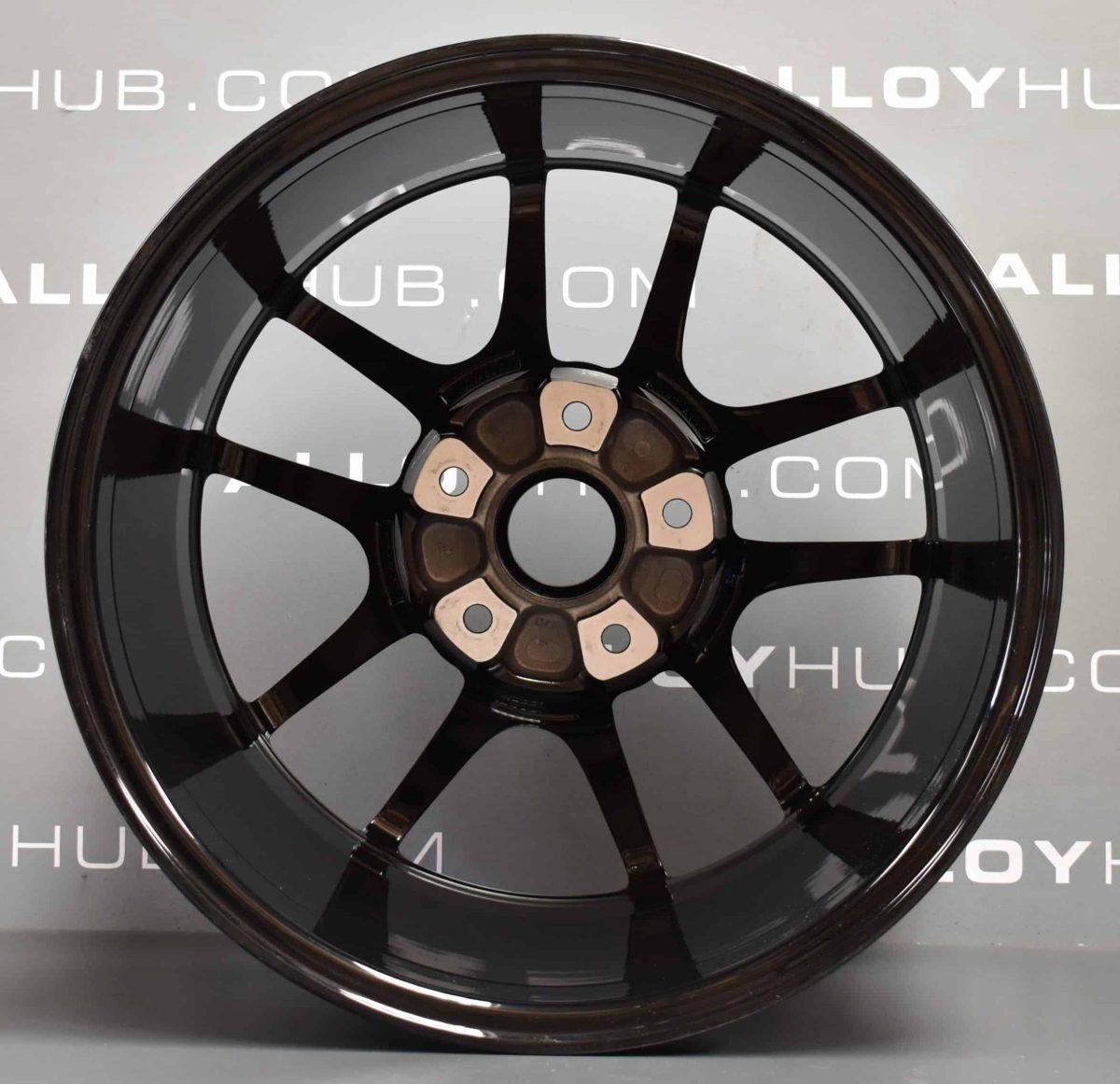 "Genuine Porsche Cayman 5 Twin Spoke 18"" inch Alloy Wheels with Gloss Black Finish 98136212004 98136212204"