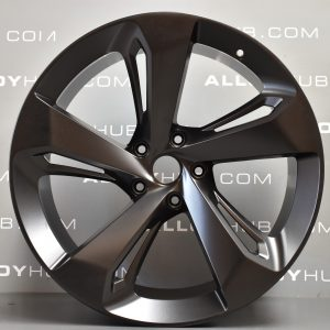 "Genuine Bentley Bentayga 5 Spoke 22"" Inch Alloy Wheels with Satin Black Finish 3A601025D, 36A601025G"