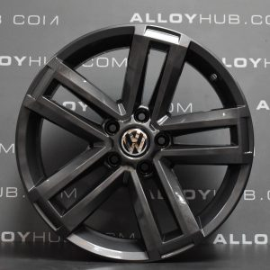 "Genuine Volkswagen Amarok Cantera 5 Twin Spoke 19"" Inch Alloy Wheel with Carbon Grey Finish 2H0 601 025 AD"