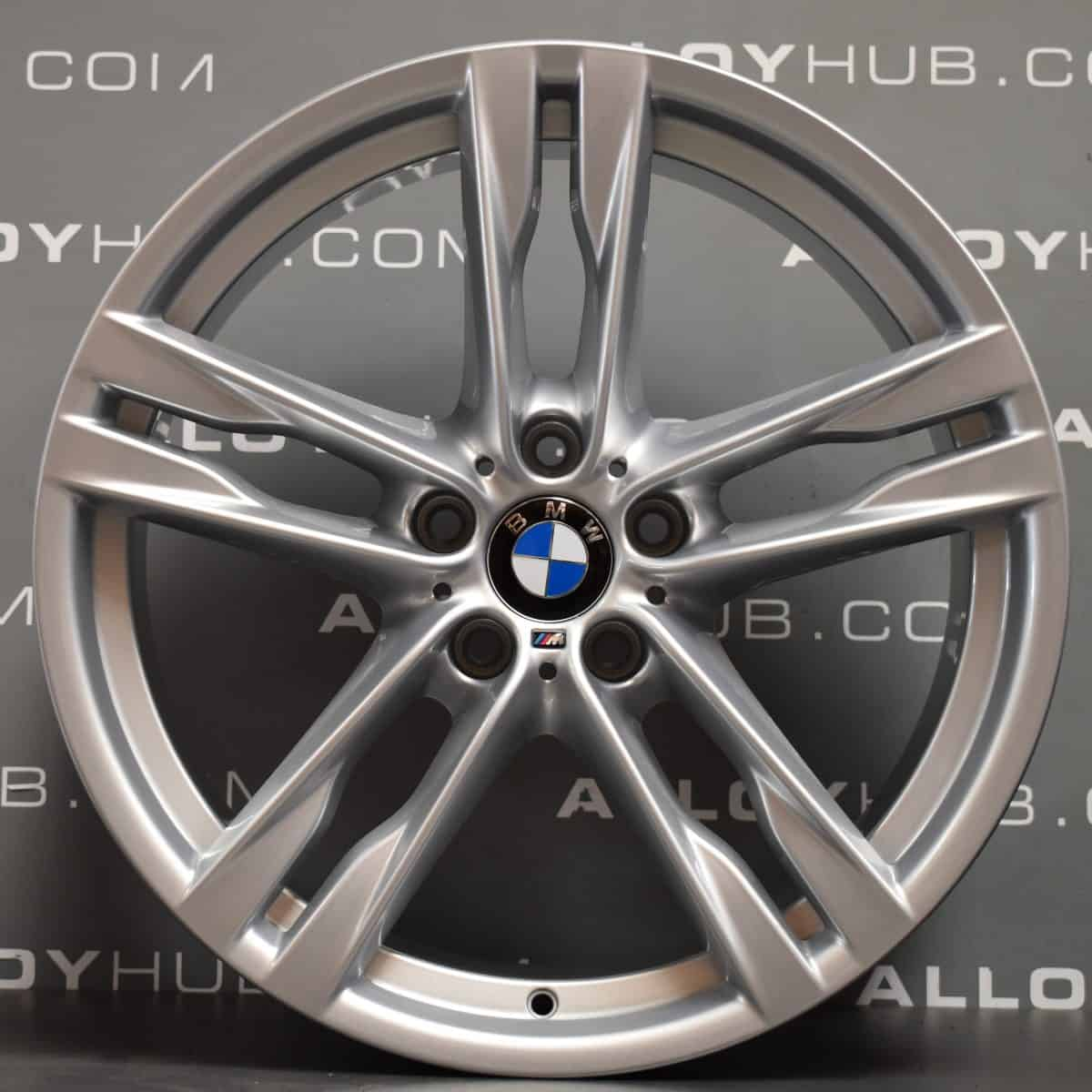 Genuine BMW 5/6 Series F10 F11 F12 F13 F06 Style 373M Sport 20″ inch 5 Twin Spoke Alloy Wheels with Silver Finish 36117843715 36117843716