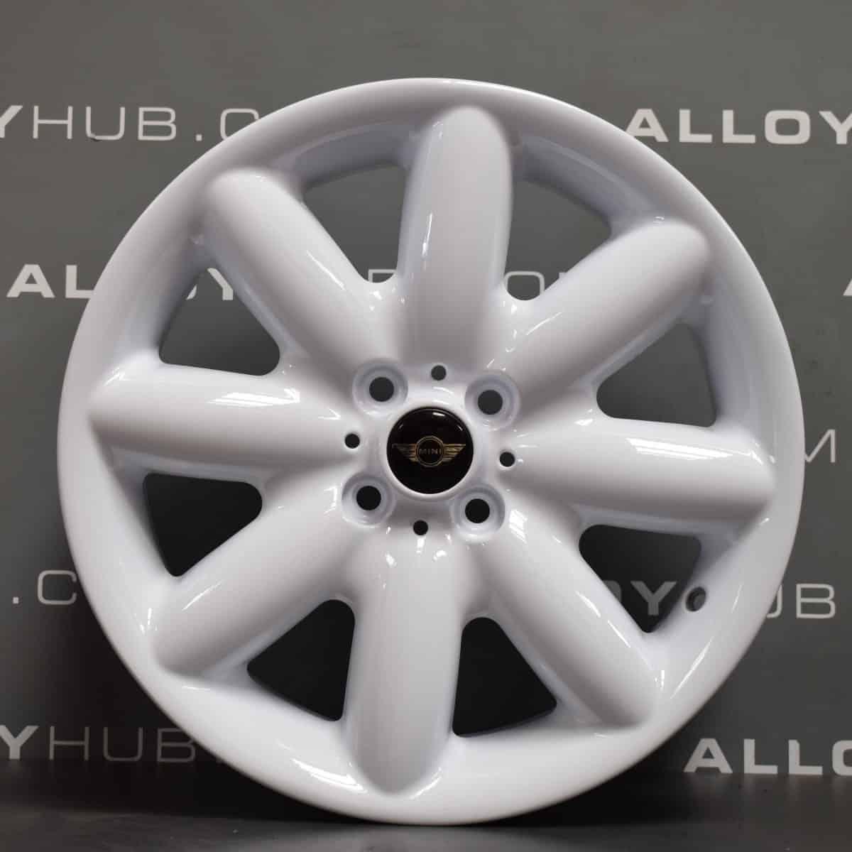 """Genuine Mini Cooper S R50 R53 R56 R85 S Spoke 17"""" inch Alloy Wheels with White Finish 36116757859"""