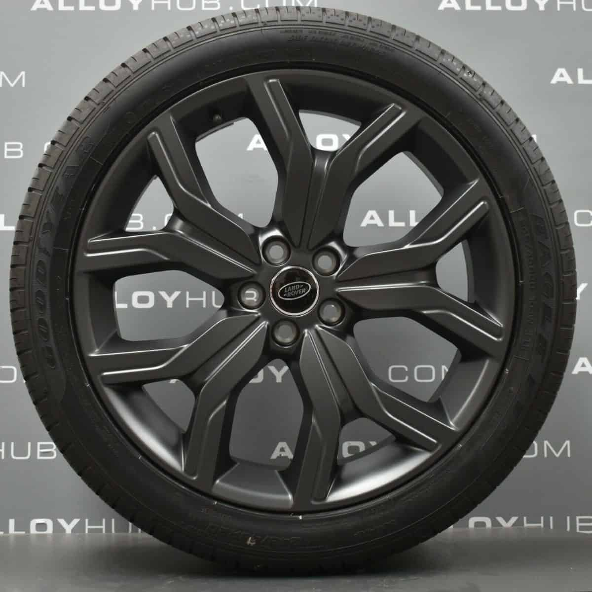 "Genuine Range Rover Evoque L538 20"" inch Style 527 5 Split-Spoke Satin Grey Alloy Wheels EJ3M1007BB"